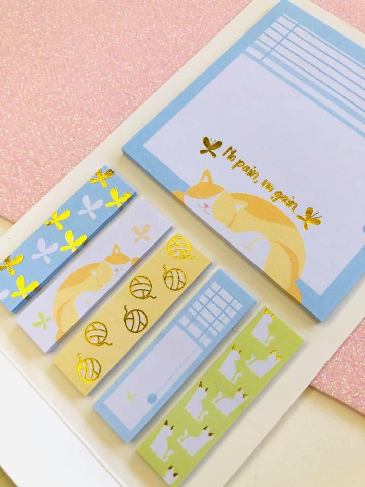 Sticky Notes gatinho com foil