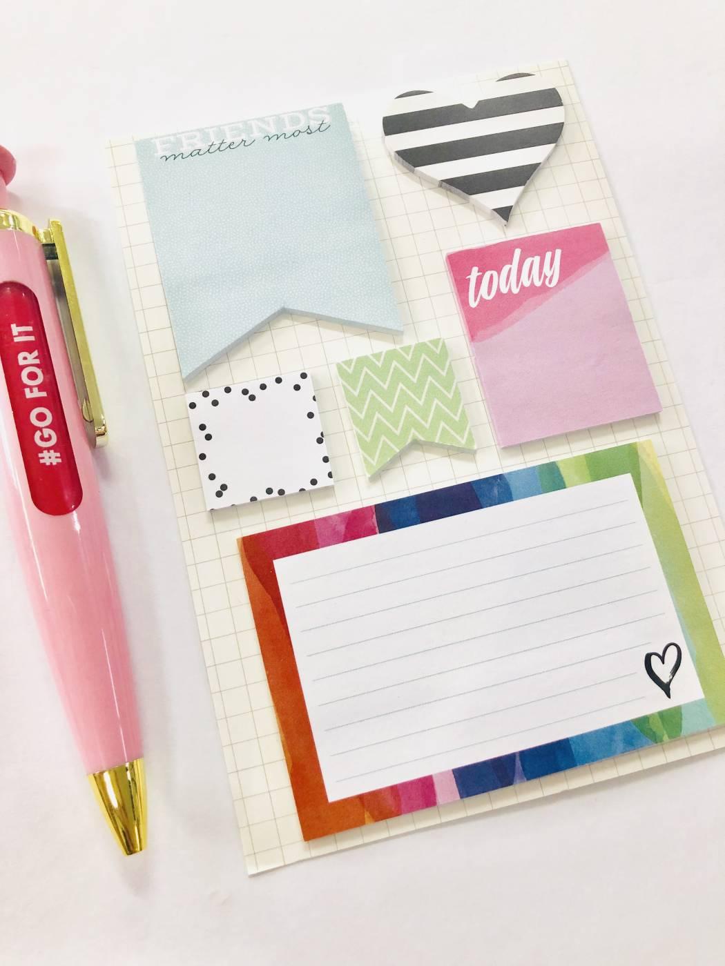 Sticky Notes Listras Coração