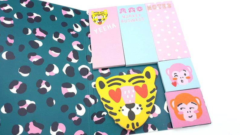 Sticky Notes Oncinha Pink- Hema