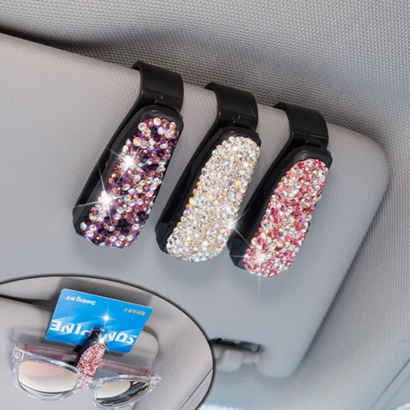 Suporte de óculos para carro strass