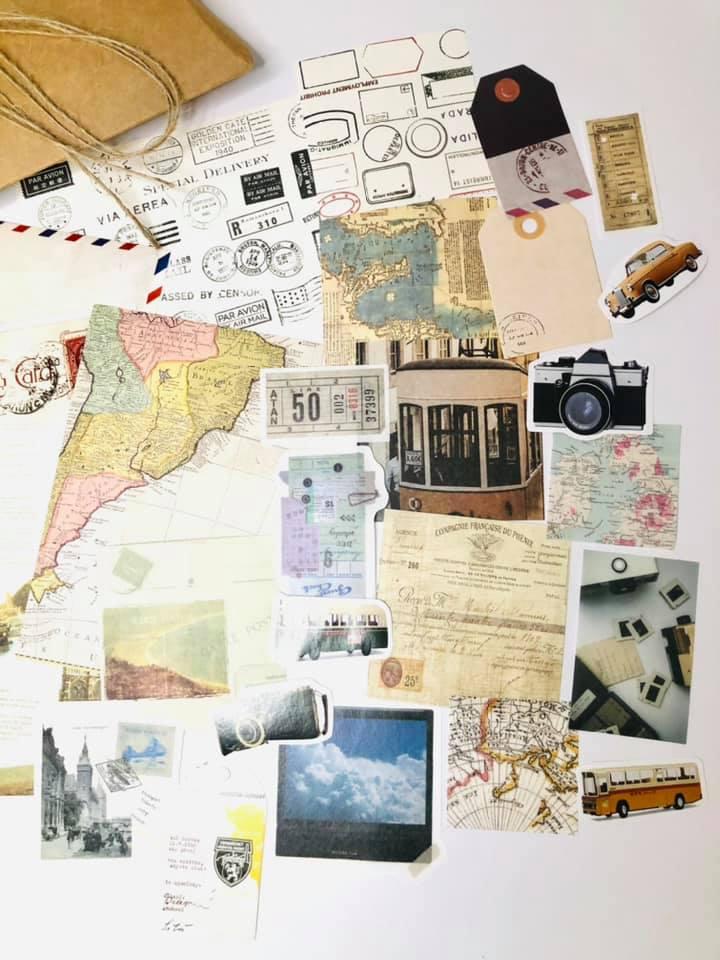 Vintage coleção DIY Mapas