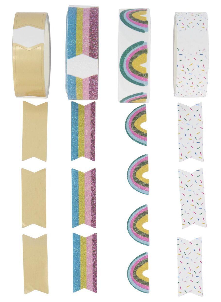 Washi Tape Arco Íris Bandeirinha