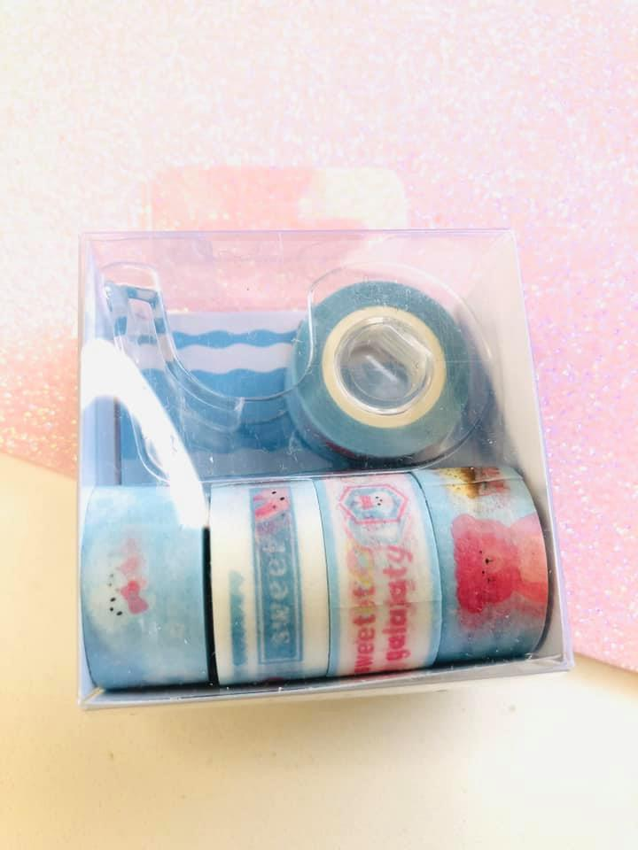 Washi tape Azul Claro mini 5 un