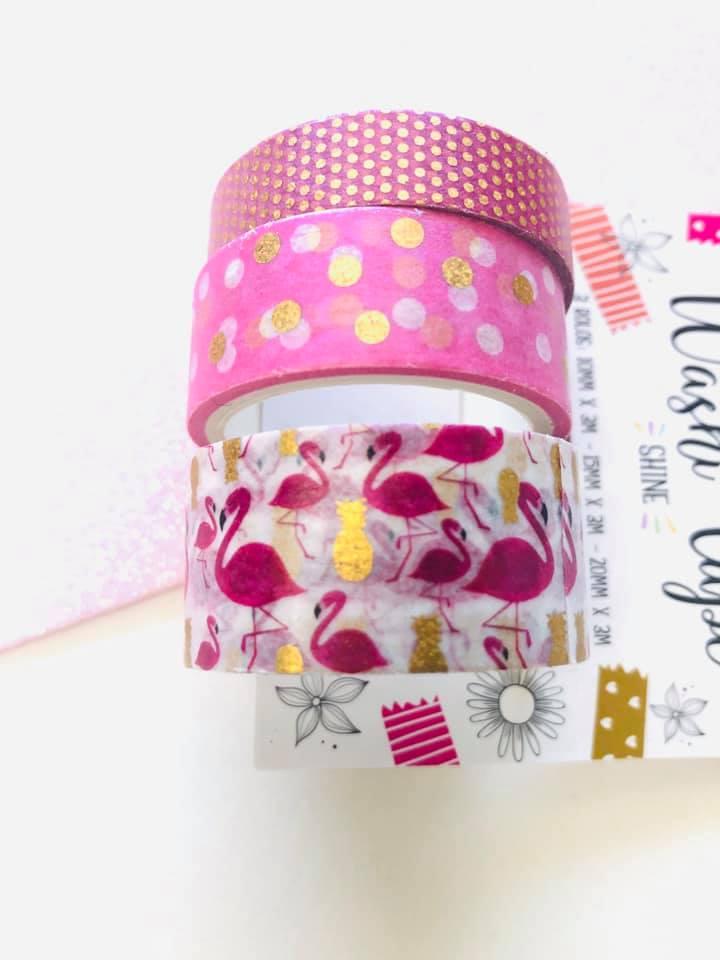 Washi tape Flamingo Foil 3 un