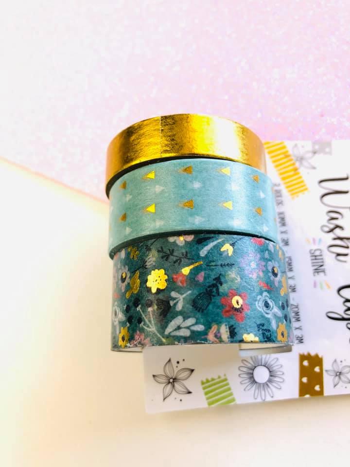 Washi tape Flores Foil 3 un