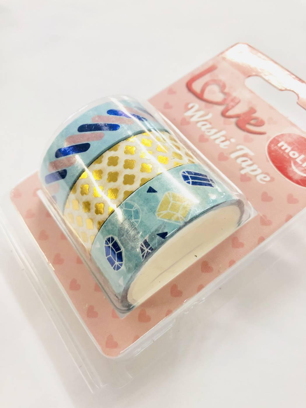 Washi Tape Foil Diamante 3 un