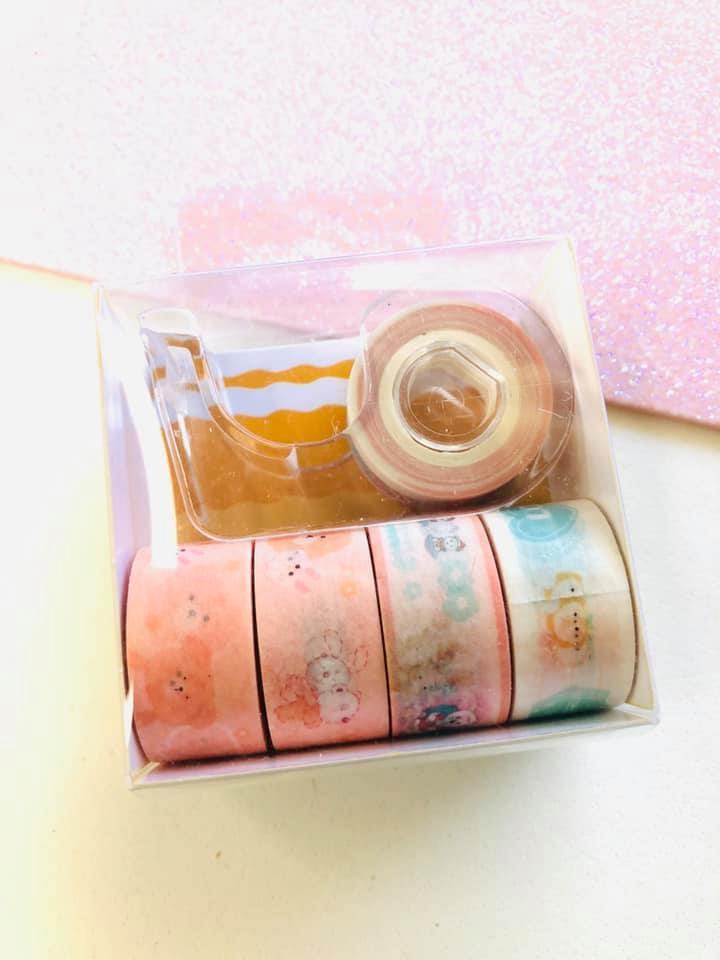 Washi tape Rosa Claro mini 5 un