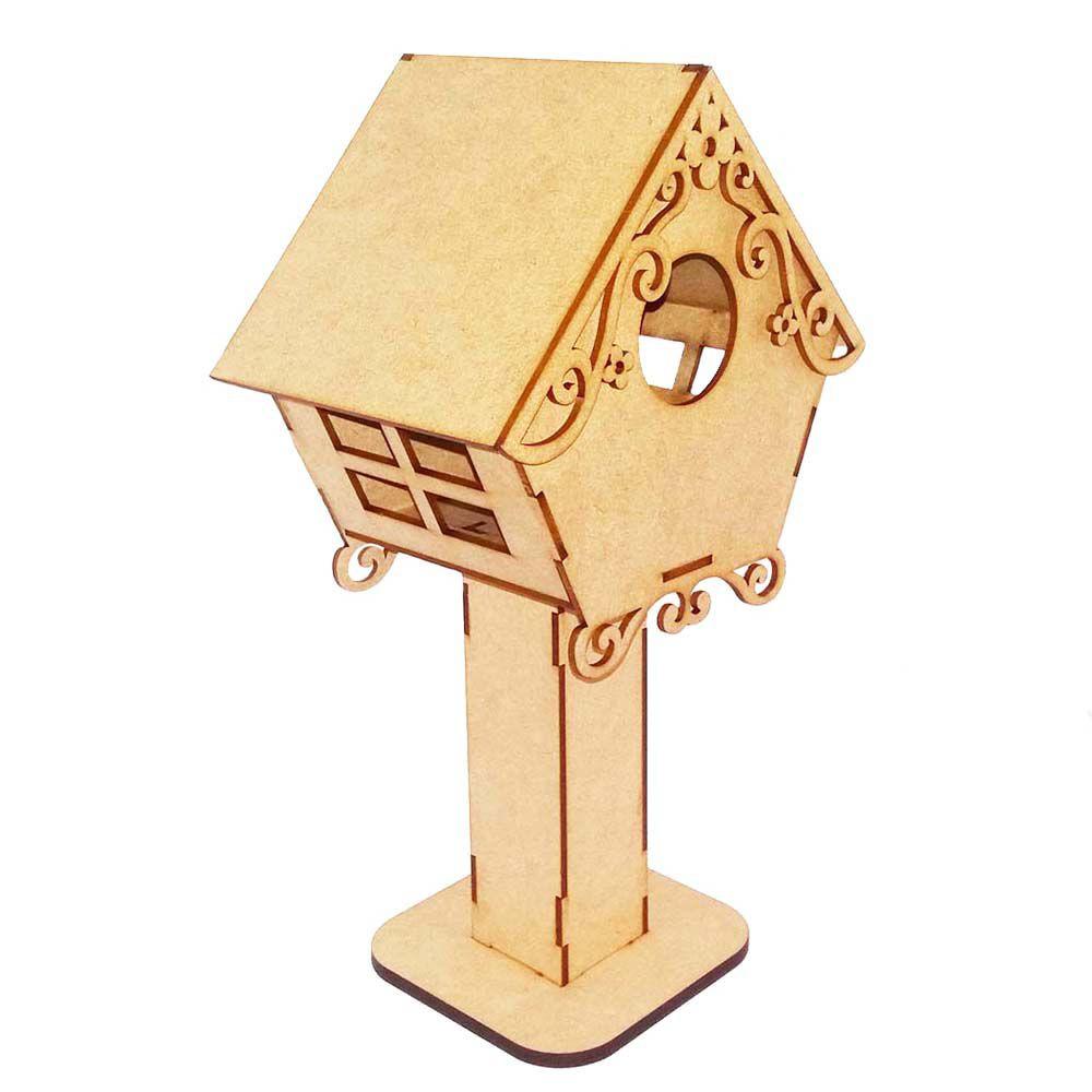 Abajur Luminária casinha de passarinho mdf decoração e festa