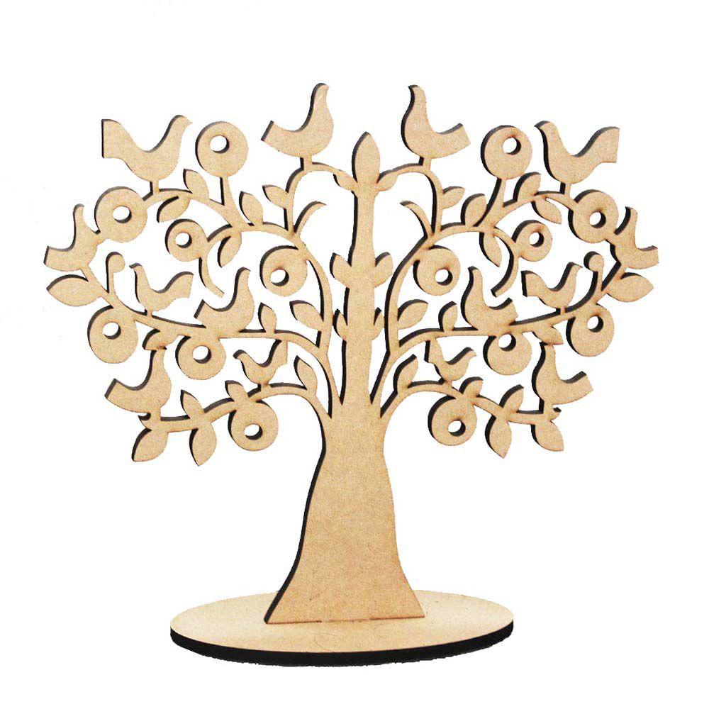 Árvore decorativa mdf 15cm mod2 decoração artesanato festa
