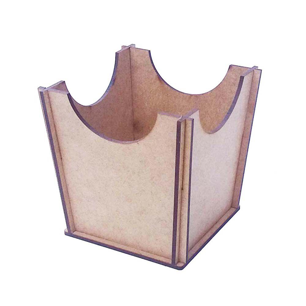 Cachepot vasinho liso 12cm borda recorte decoração festa