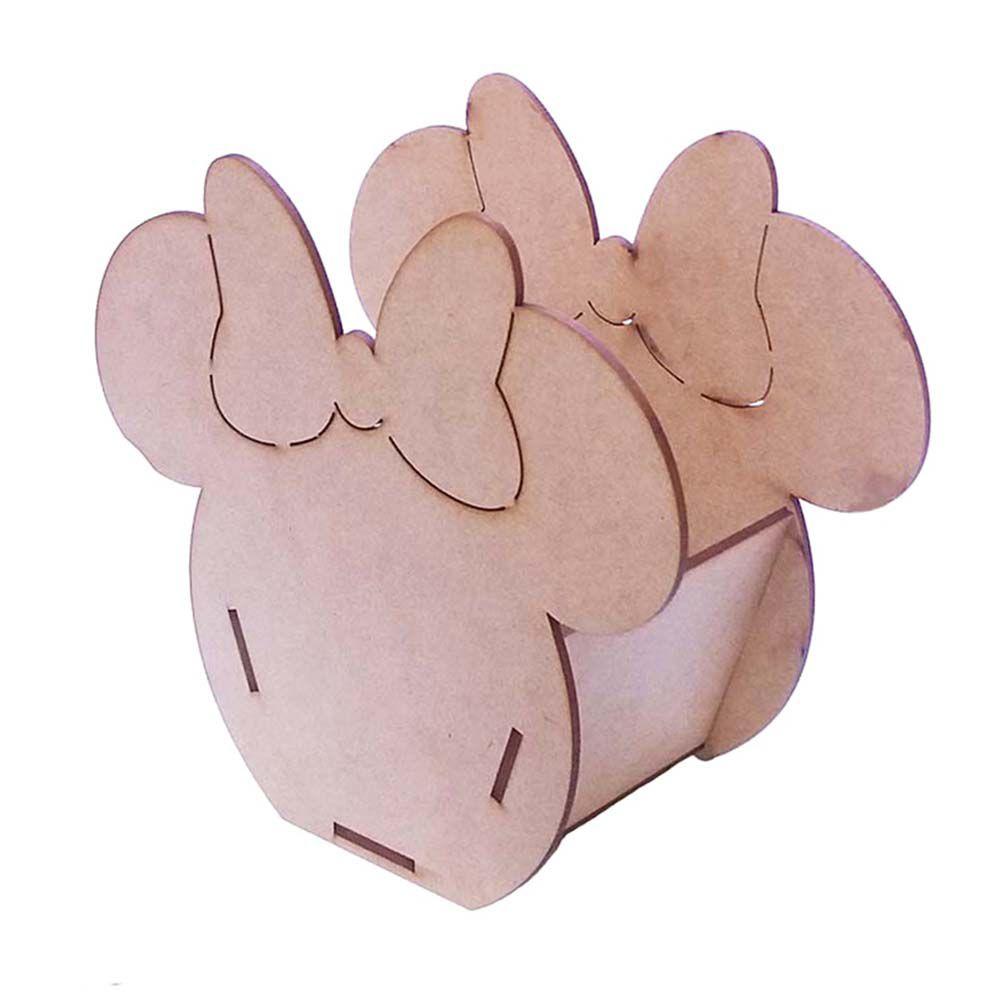 Cachepot vasinho Minnie minie 22 x 18 cm decoração festa