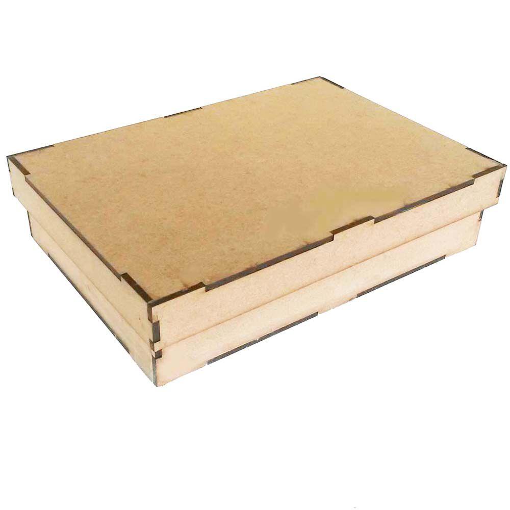 Caixa mdf lisa 20 x 10 x 4,5 cm arte artesanato decoração