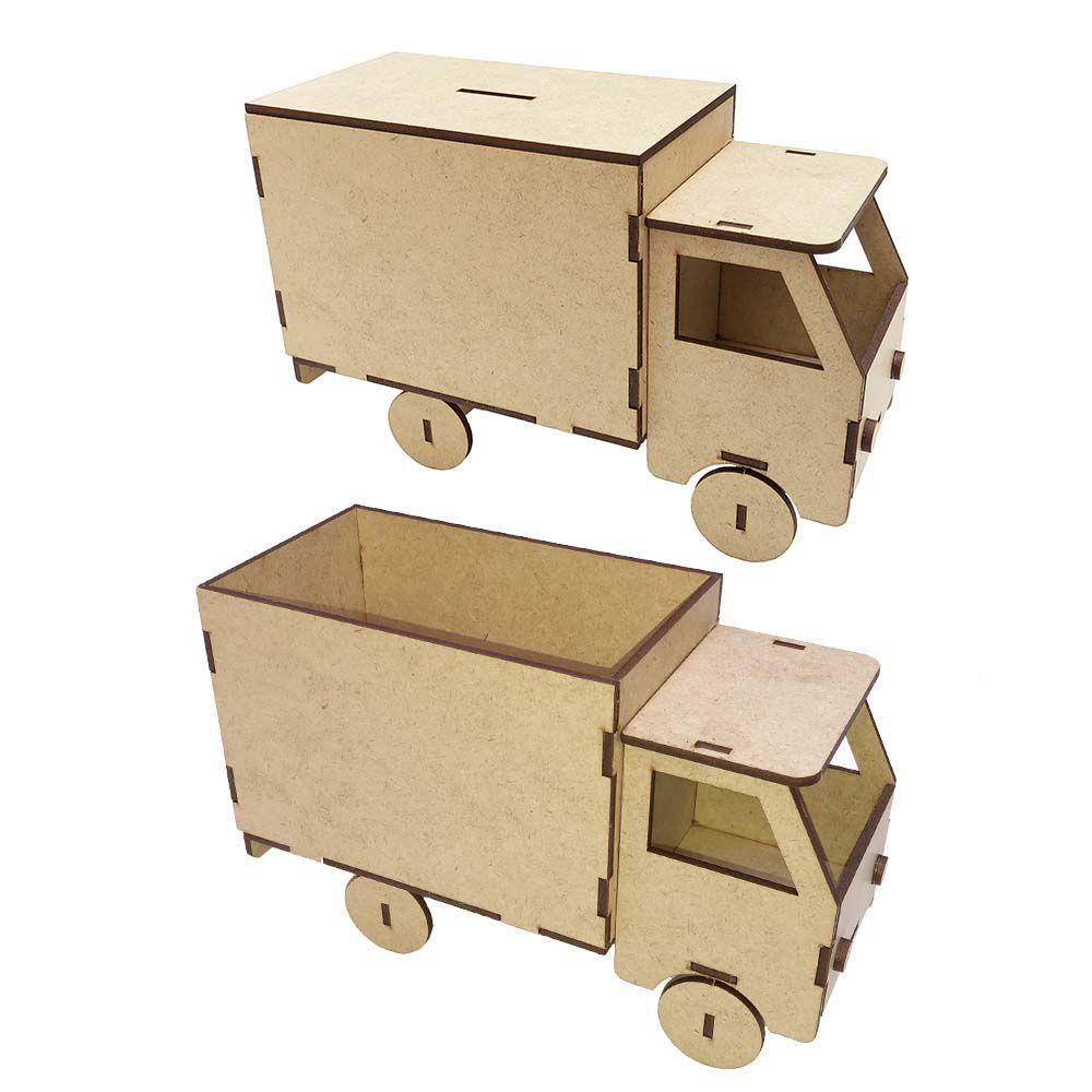 Caminhão mdf cofre ou carga 22 cm cachepot festa