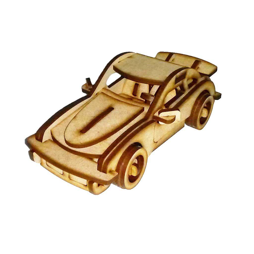 Carro Sport P911 Quebra Cabeça 3D mdf