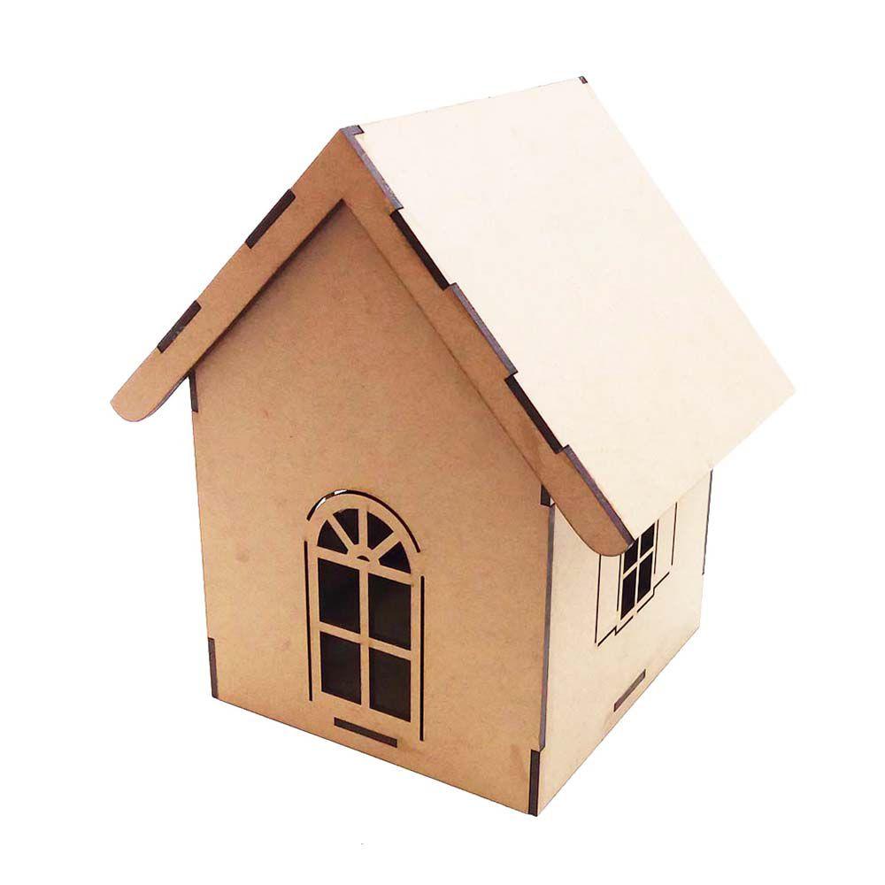 Casa Casinha de passarinho mdf Luminária reta 22 cm