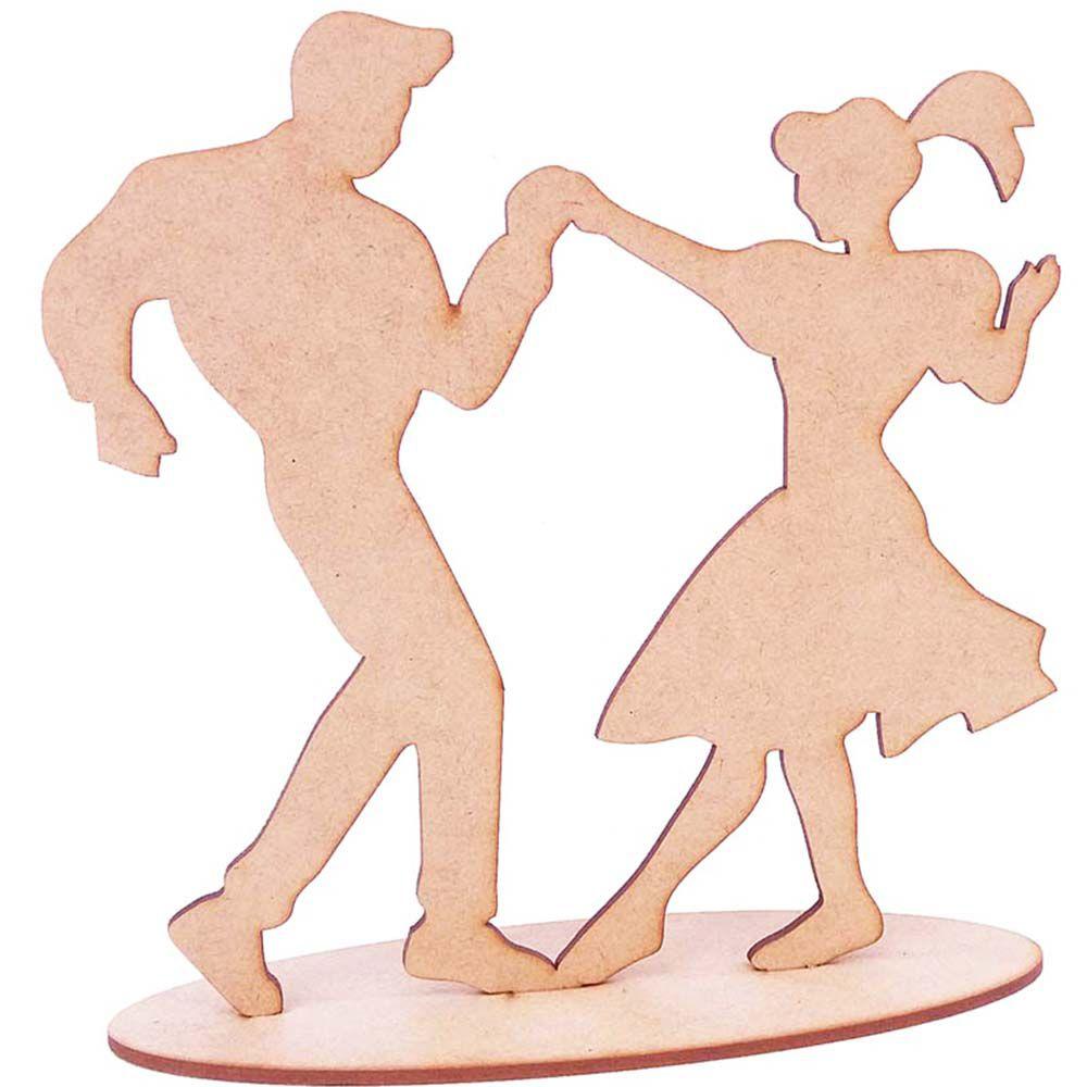 Casal dançante centro de mesa mdf 20cm decoração anos 60