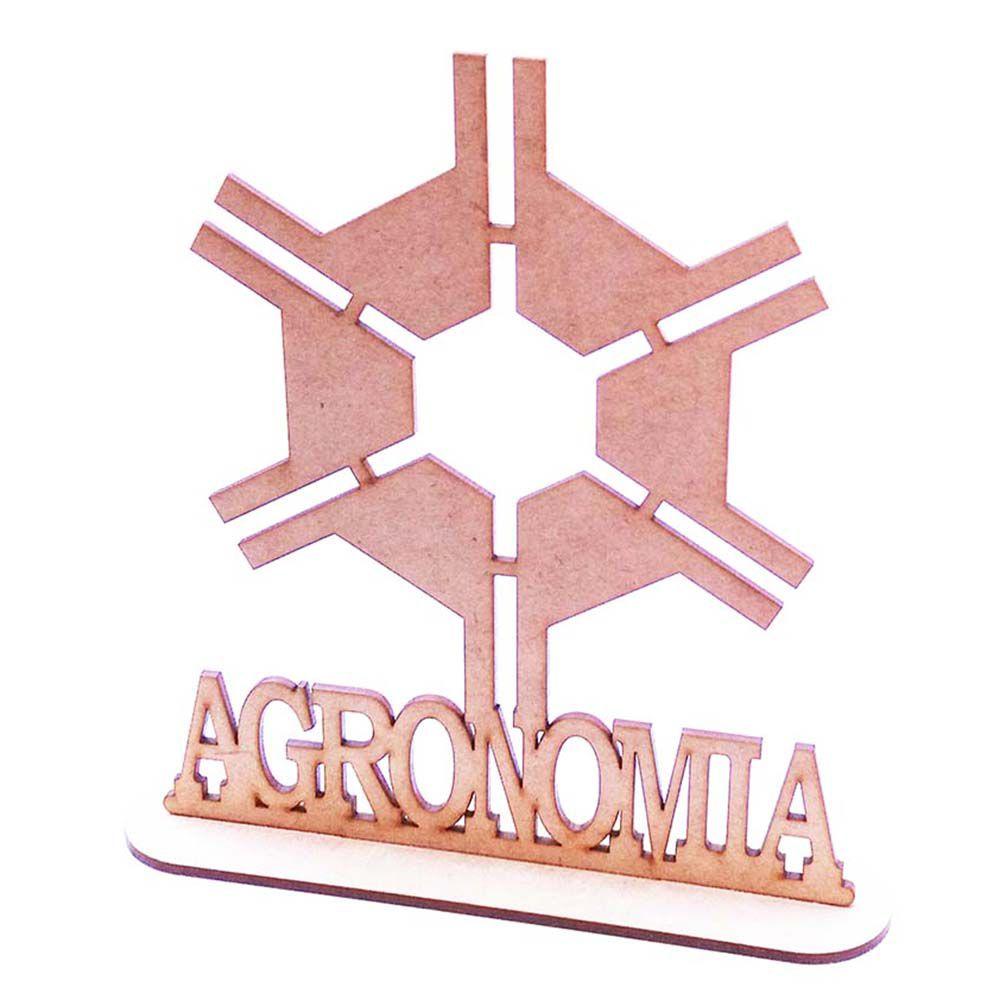 Centro de mesa mdf 20cm formatura profissão Agronomia