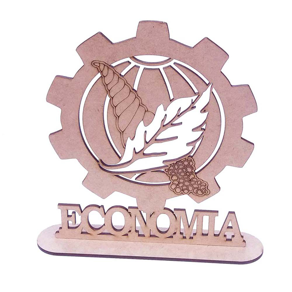 Centro de mesa mdf totem 20cm formatura profissão Economia