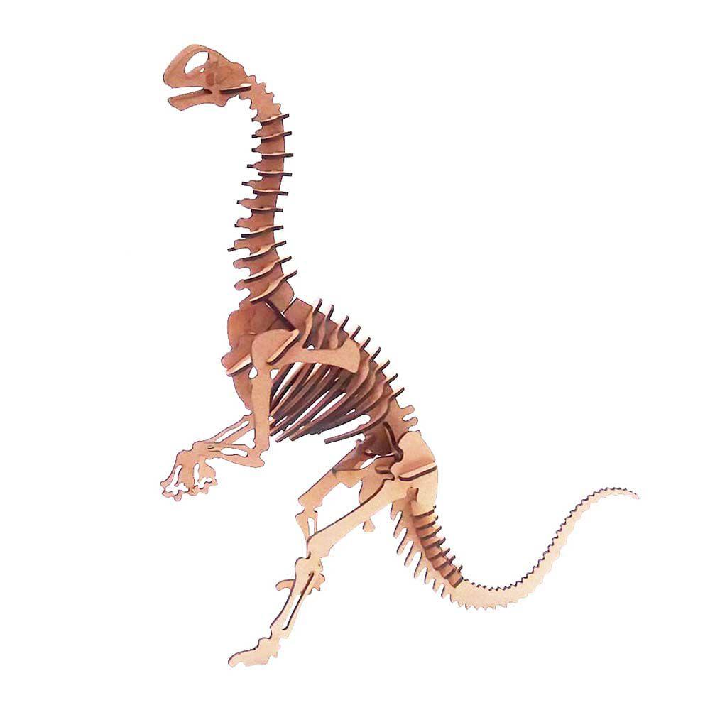 Kit 5 Dinossauro Jobaria Quebra Cabeça 3D coleção dino mdf