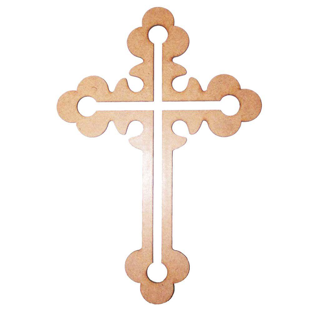 Crucifixo mdf 33cm mod2 cruz artesanato religioso