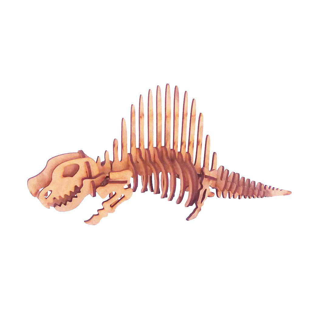 Dinossauro Dimetrodonte Quebra Cabeça 3D coleção dino mdf