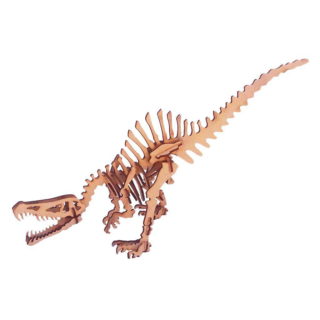 Dinossauro Espinossauro Quebra Cabeça 3D coleção dino mdf