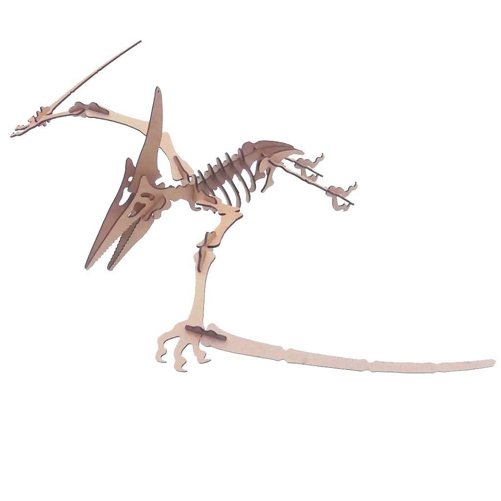 Dinossauro Pterodáctilo Quebra Cabeça 3D mdf coleção dino
