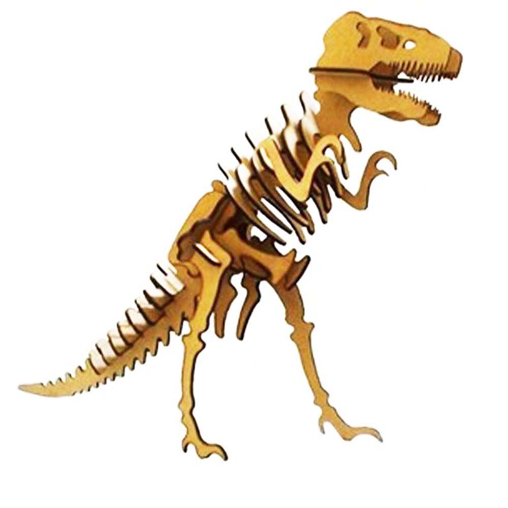 Dinossauro Tiranossauro Rex Quebra Cabeça 3D T Rex mdf