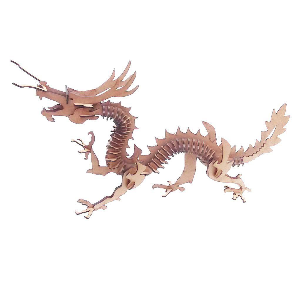 Dragão Chinês Quebra Cabeça 3D mdf