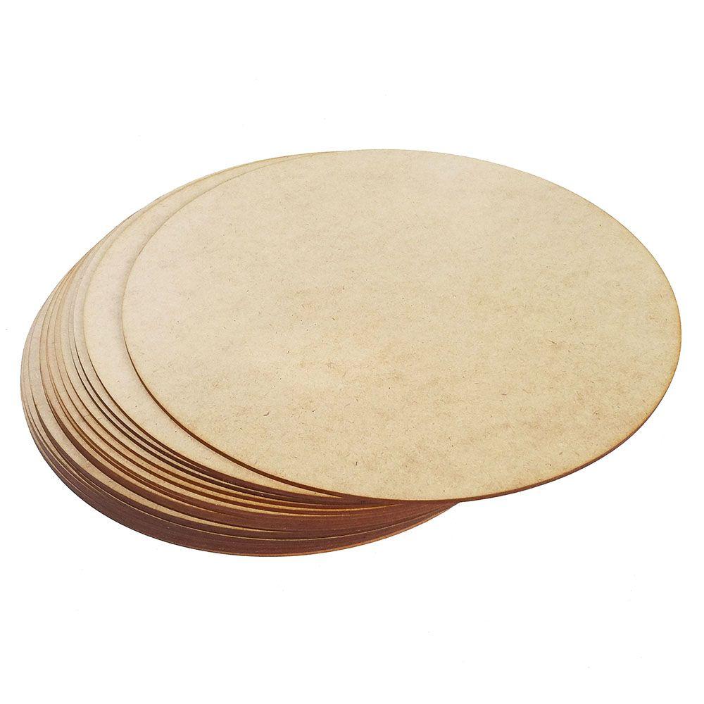 Kit 100 Disco mdf 10cm placa artesanato base mdf biscuit