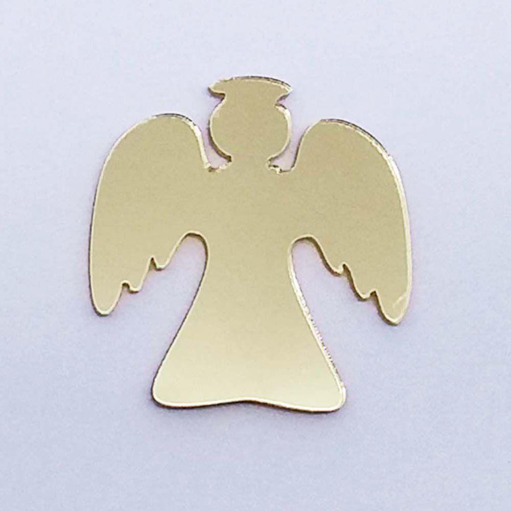 Kit 10 Aplique anjo anjinho Acrilico espelhado AP135