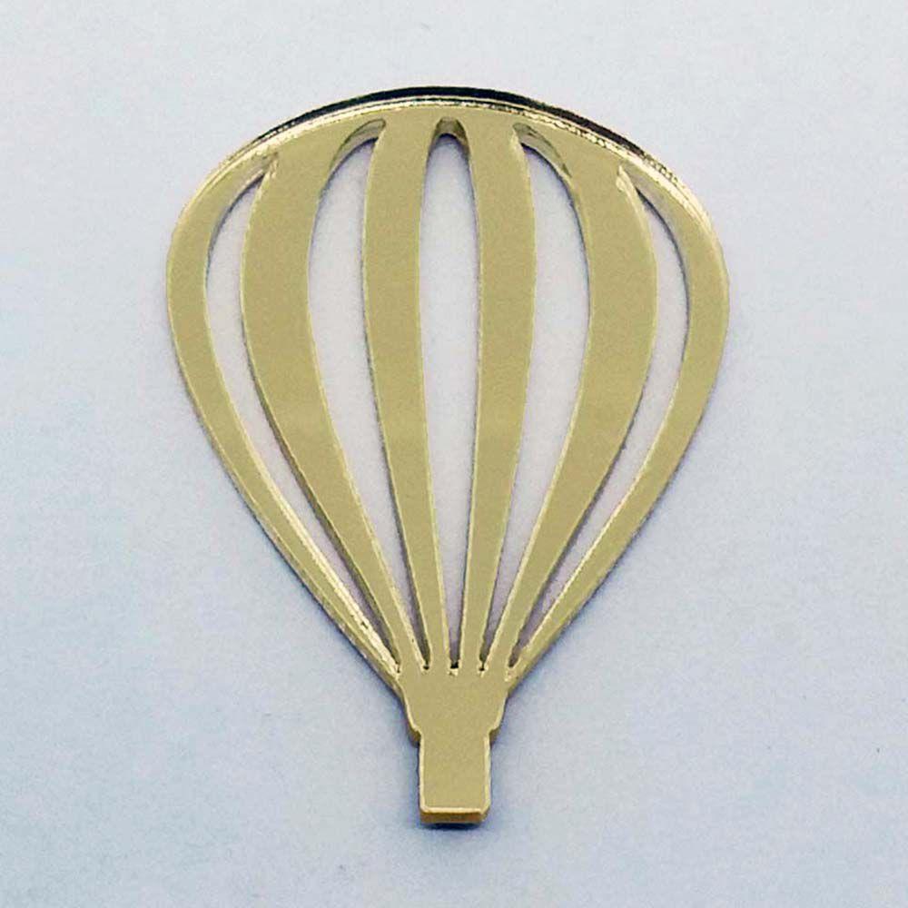 Kit 10 Aplique balão vazado Acrílico espelhado AP120