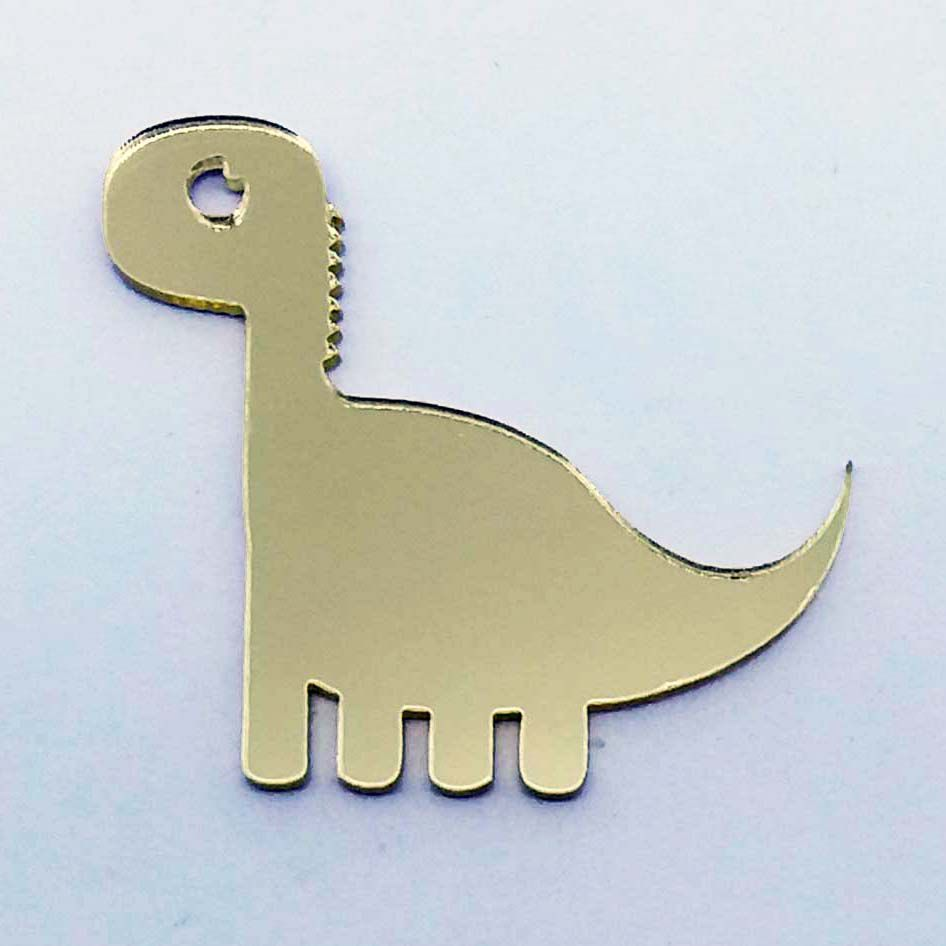 Kit 10 Aplique dino dinossauro Acrilico espelhado AP182