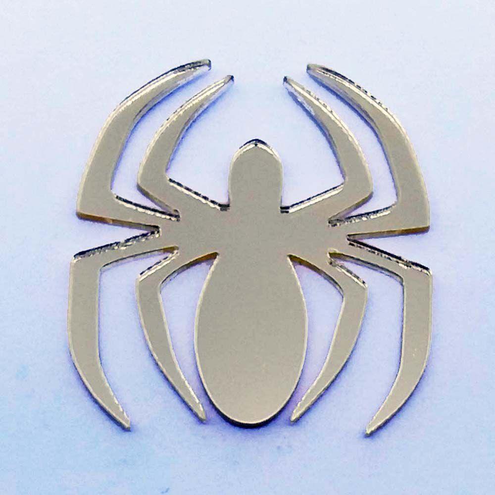 Kit 10 Aplique homem aranha heróis Acrilico espelhado AP154