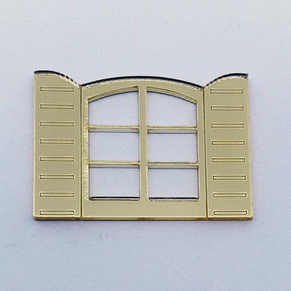 Kit 10 Aplique janela janelinha Acrilico espelhado AP118