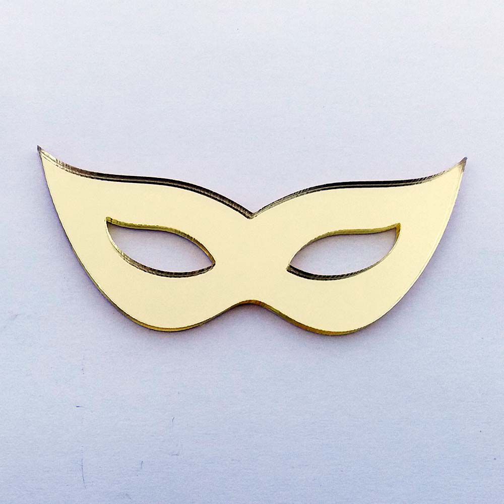 Kit 10 Aplique mascara de carnaval Acrílico espelhado AP403