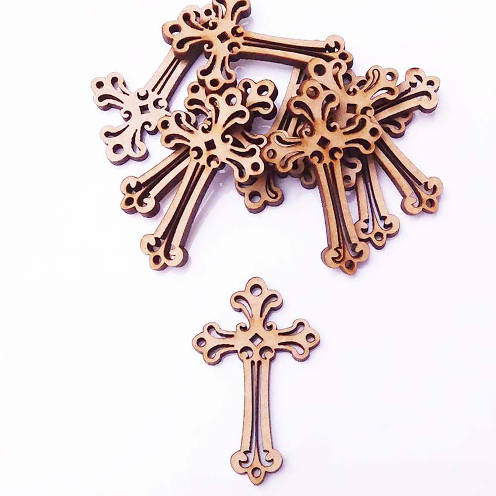 kit 10 aplique mdf pingente crucifixo 4 cm arte religioso