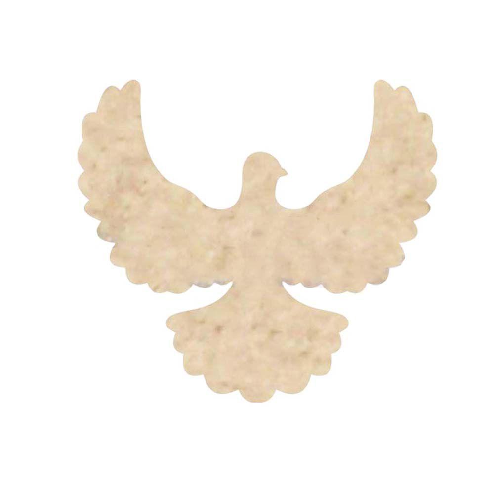 Kit 10 Aplique mdf pombo da paz divino 4,5cm