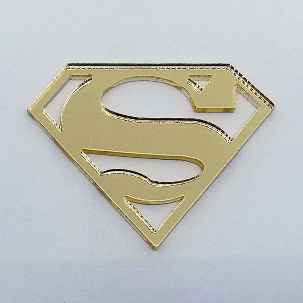 Kit 10 Aplique Superman super homem heróis Acrilico espelhado AP149