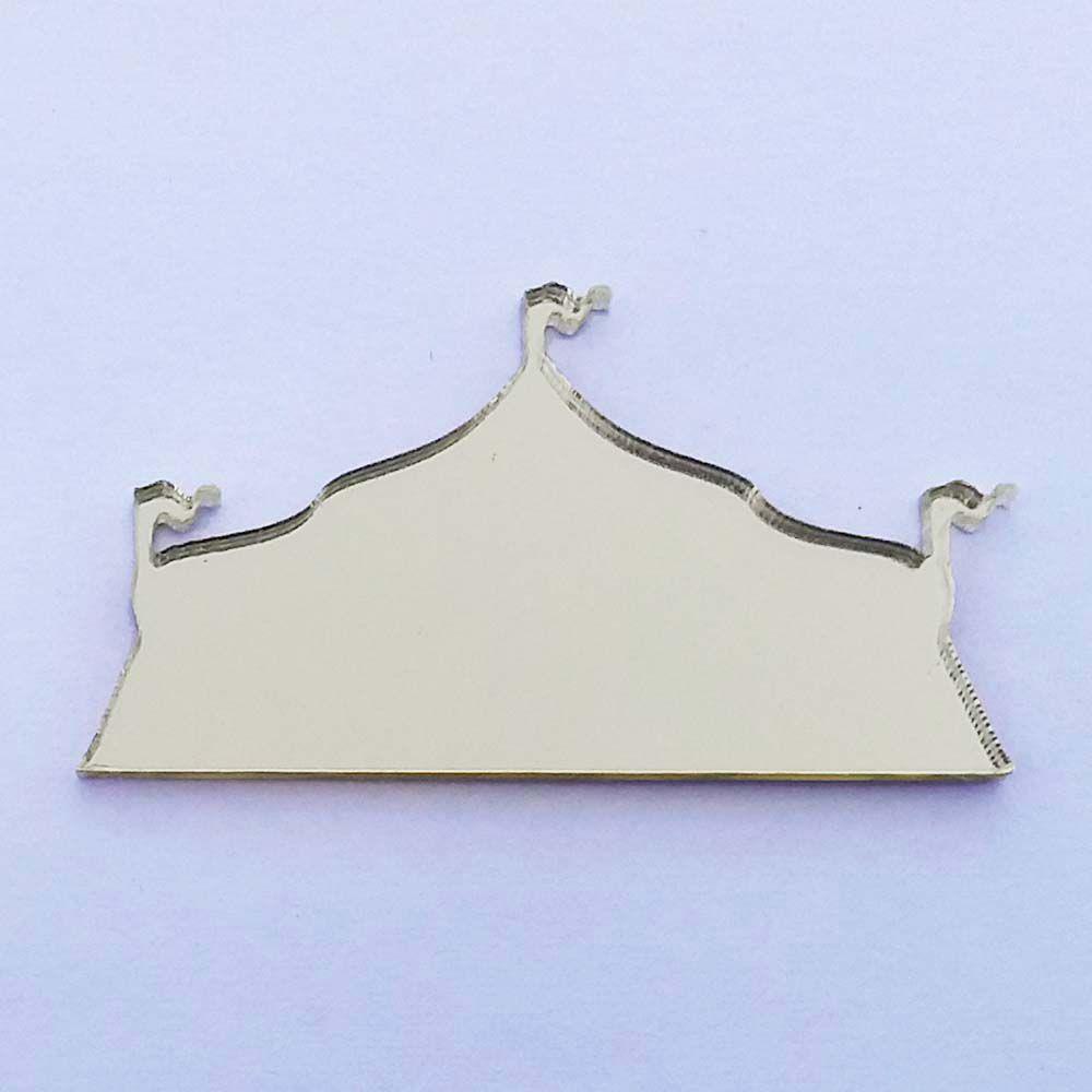 Kit 10 Aplique tenda circo Acrílico espelhado dourado ou prata AP011