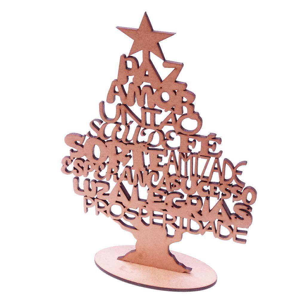 Kit 10 Árvore desejos de natal 22 cm mdf 3mm decoração