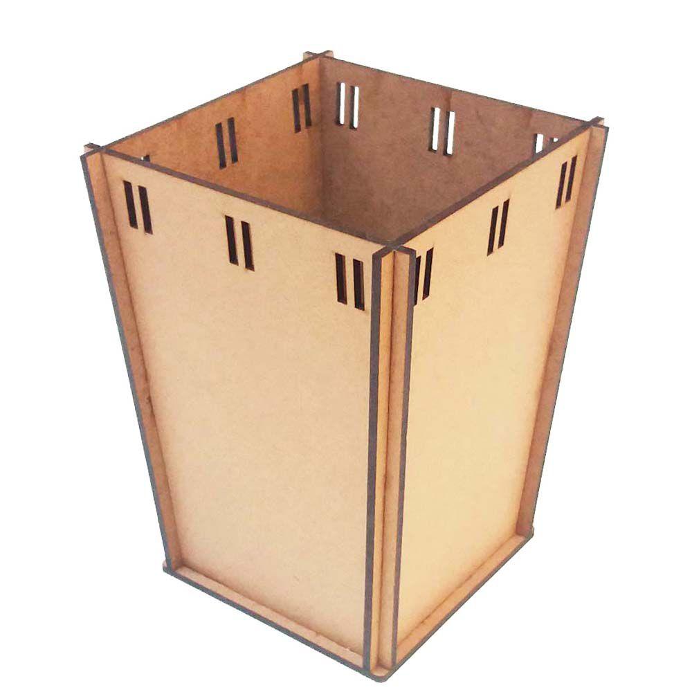 Kit 10 Cachepot vaso mdf passa fita  12 x 16cm festa e arte
