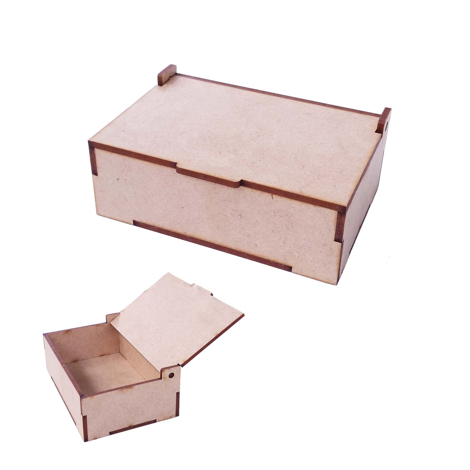 Kit 10 Caixa caixinha mdf 20 x 15 x 10cm tampa articulada