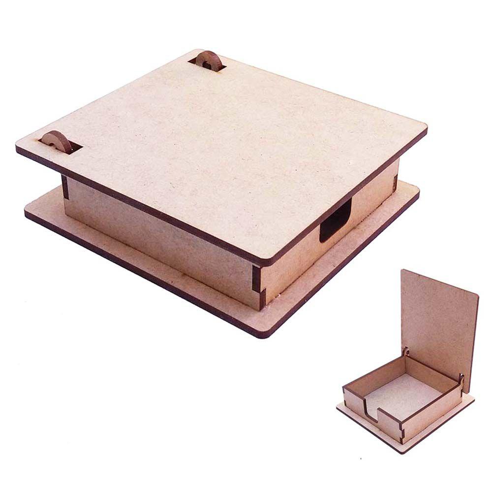 Kit 10 Caixinha mdf porta bloco recado anotação