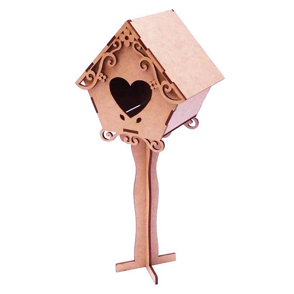 kit 10 Casa Casinha de passarinho 15cm com suporte
