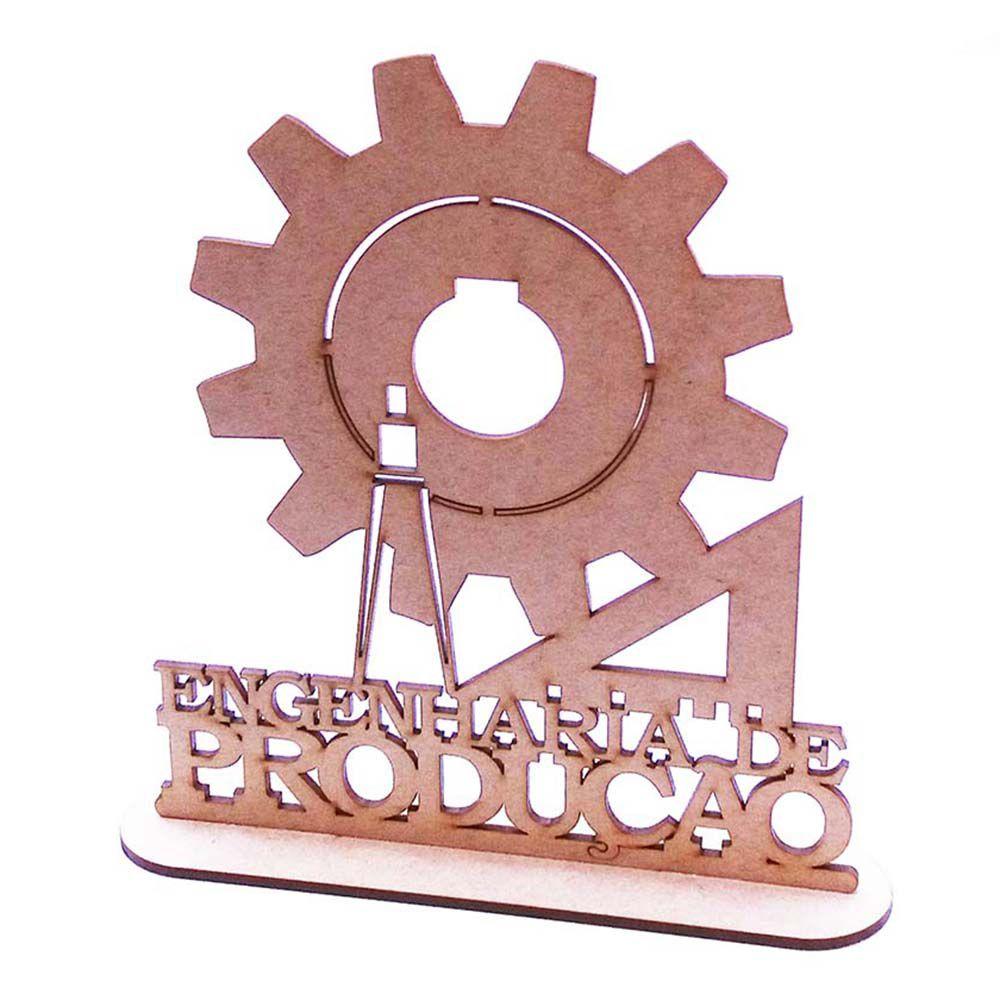 Kit 10 Centro mesa 20cm formatura curso Engenharia Produção