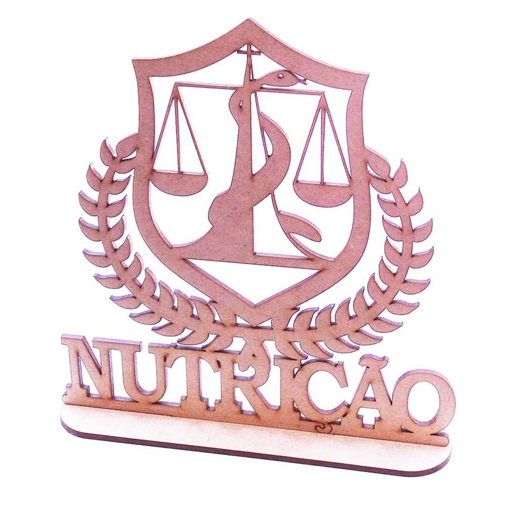 Kit 10 Centro mesa mdf 20cm profissões formatura Nutrição