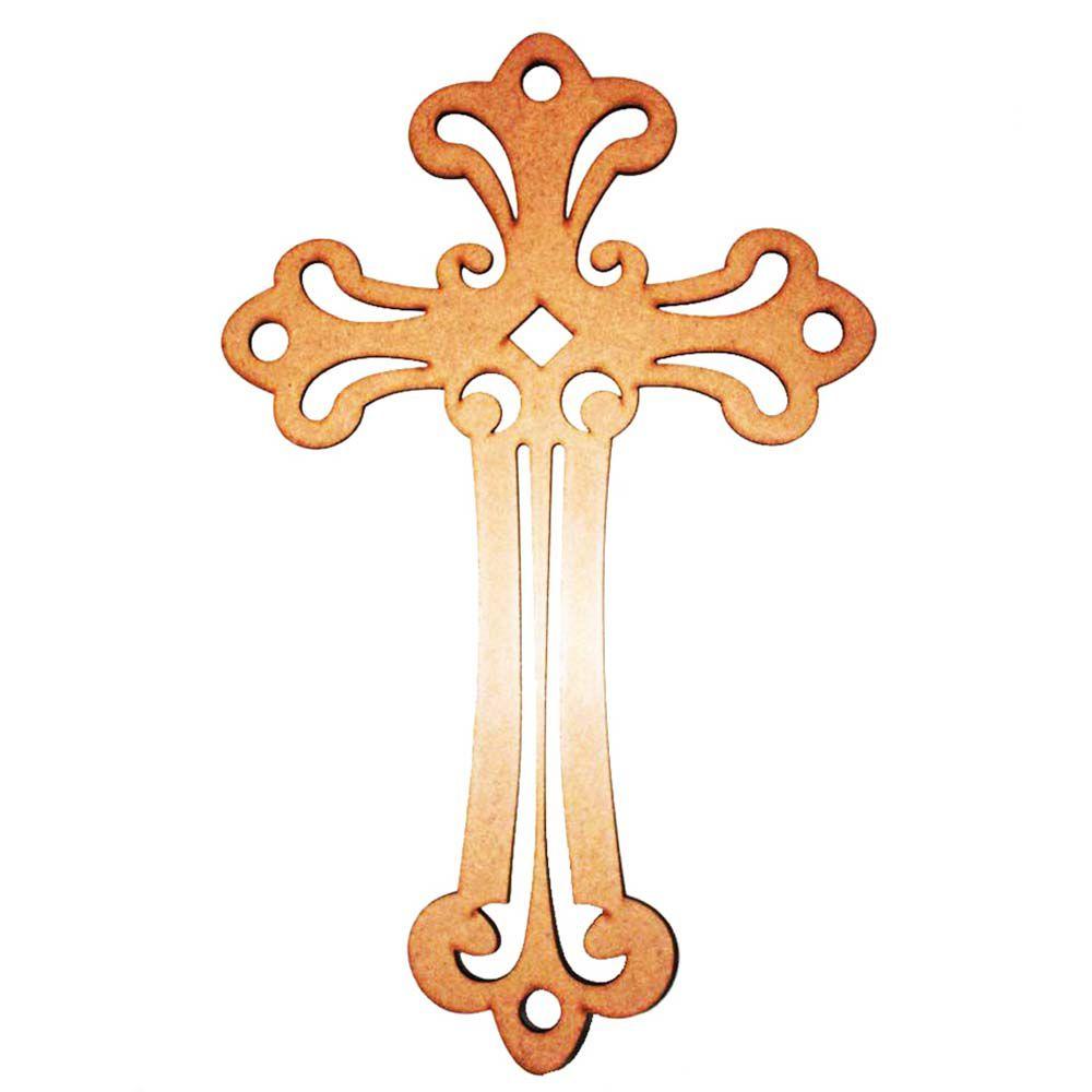 Kit 10 Crucifixo 33cm mod1 mdf 3mm cruz artesanato religioso