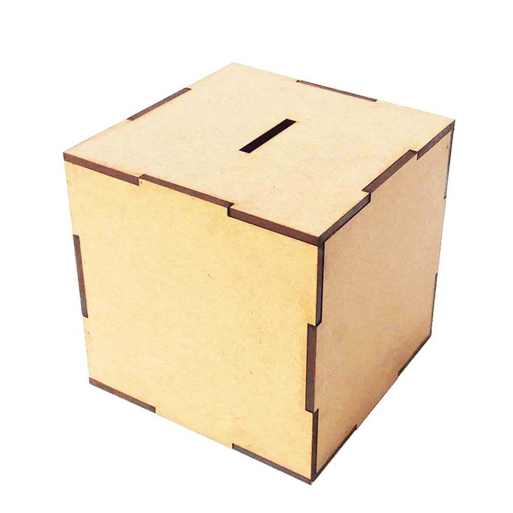 Kit 10 Cubo cofre mdf cofrinho 15cm porta moeda artesanato