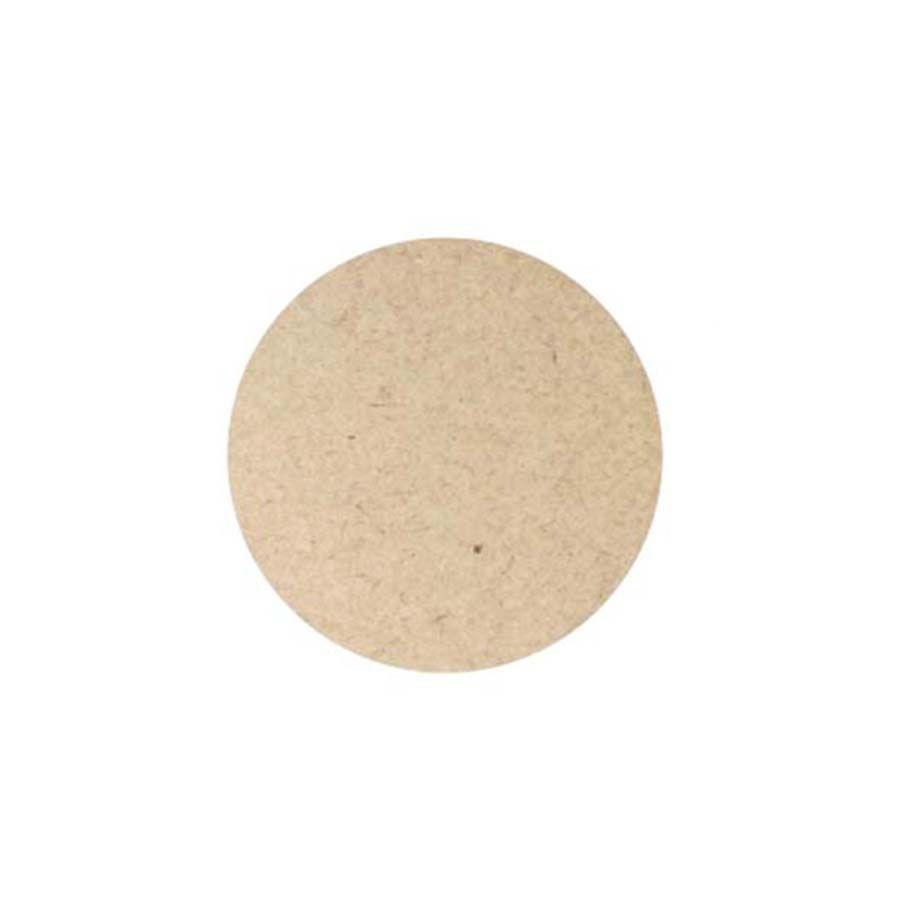 Kit 10 Disco base 6 cm x 9 mm mdf tampão botão artesanato